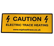 Trace Heating Warning Label